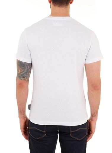 Versace Jeans  % 100 Pamuklu Bisiklet Yaka T Shirt Erkek T Shırt B3Gzb7Tg 30319 K41 Beyaz